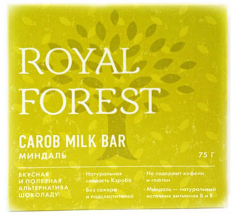 Royal Forest Carob Milk Bar (миндаль) 75гр