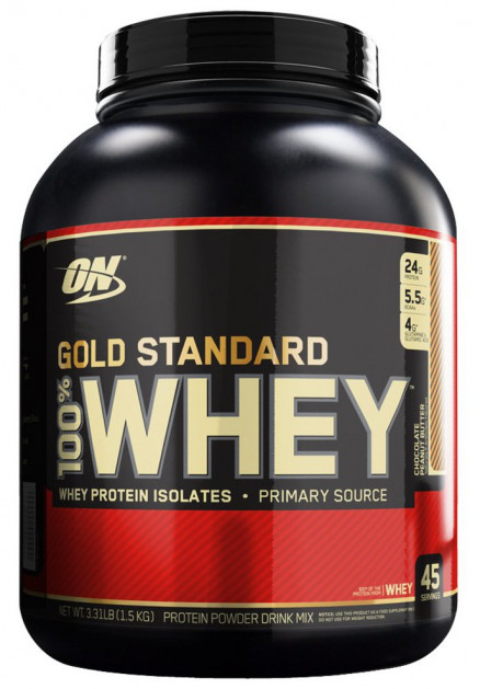 Протеин Optimum Nutrition 100 % Whey protein Gold standard 3.35 lb (1500 г)