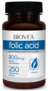 BIOVEA Folic Acid 800 мкг (250 таб)