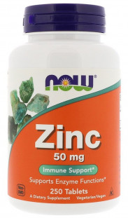 NOW Zinc Gluconate 50 мг (250 таб)