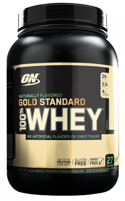 Протеин Optimum Nutrition Natural Whey Gold standard Gluten Free 1,9 lb (862 г)